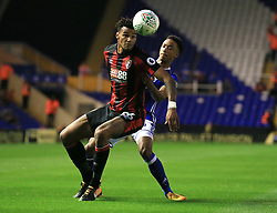 Tyrone Mings of Bournemouth shields he ball from Cohen Bramall of Birmingham City  - Mandatory by-line: Paul Roberts/JMP - 22/08/2017 - FOOTBALL - St Andrew's Stadium - Birmingham, England - Birmingham City v Bournemouth - Carabao Cup