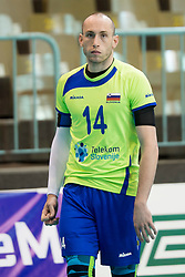 Ziga Stern of Slovenia during volleyball match between national teams of Slovenia and Turkey of 2018 CEV volleyball Godlen European League, on May 27, 2018 in Sports hall Tabor, Maribor, Slovenia. Photo by Urban Urbanc / Sportida