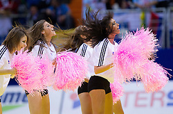 Cheerleaders during handball match between Slovenia and Croatia in  2nd Round of Preliminary Round of 10th EHF European Handball Championship Serbia 2012, on January 18, 2012 in Millennium Center, Vrsac, Serbia. Croatia defeated Slovenia 31-29. (Photo By Vid Ponikvar / Sportida.com)