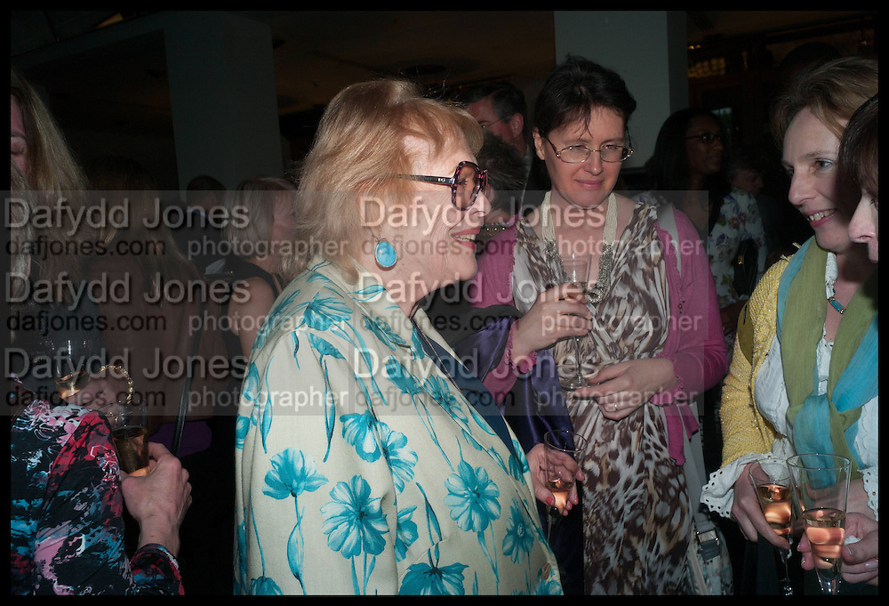 LADY ANTONIA FRASER; MARIA PAKENHAM; , Launch of Rachel Kelly's memoir 'Black Rainbow' about recovering from depression with the help of poetry published by Hodder & Stoughton , ( Author proceeds will be given to the charities SANE and United Response ). Cafe of the National Gallery.  London. 7 May 2014