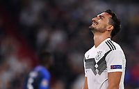 FUSSBALL UEFA Nations League in Muenchen Deutschland - Frankreich       06.09.2018 Mats Hummels (Deutschland) --- DFB regulations prohibit any use of photographs as image sequences and/or quasi-video. ---