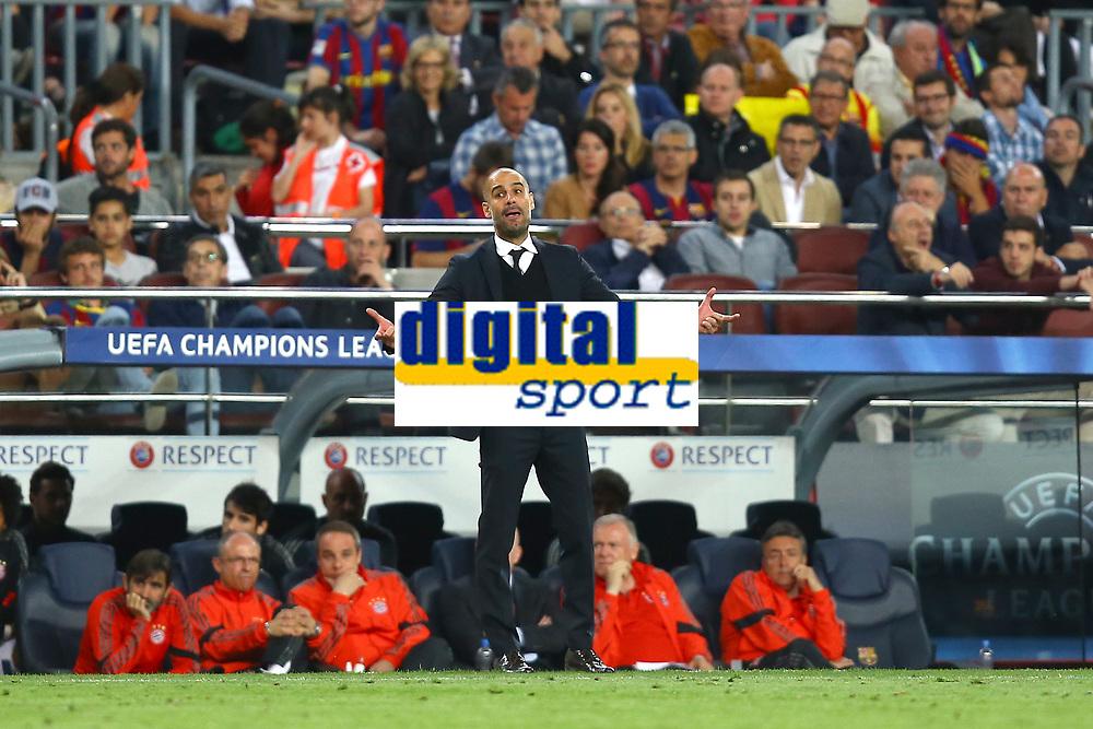 Head Coach Josep Guardiola of FC Bayern Munich during the UEFA Champions League semi-final first leg match, between FC Barcelona and Bayern Munchen on May 6, 2015 at Camp Nou stadium in Barcelona, Spain. <br /> Photo: Manuel Blondeau/AOP.Press/DPPI