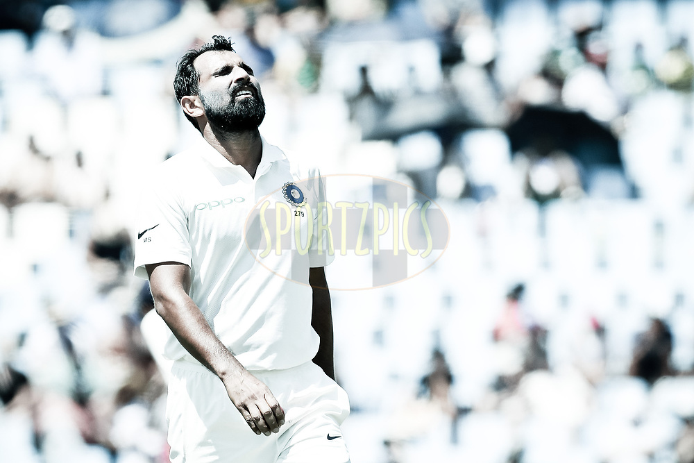Mohammad Shami of India during the first day of the second Sunfoil Test match between South Africa and India held at the Supersport park Cricket Ground in Centurion, South Africa on the 13th January 2018<br /> <br /> Photo by: Ron Gaunt / BCCI / SPORTZPICS