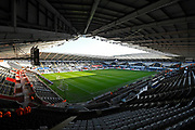 General view inside the Liberty Stadium ahead of the EFL Sky Bet Championship match between Swansea City and Middlesbrough at the Liberty Stadium, Swansea, Wales on 14 December 2019.