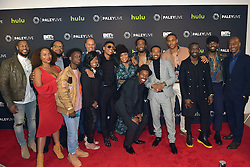December 14, 2016 - Beverly Hills, Kalifornien, USA - Durrell Babbs / Tank, Lisa Nicole Carson, Chris Robinson, Tyler Williams, Sandi McCredd, Jesse Collins, Bryshere Y. Gray, Yvette Nicole Brown, Woody McClain, Algee Smith, Elijah Kelly, Luke James und Stephen G. Hill bei der Premiere der BET TV-Miniserie 'The New Edition Story' im Paley Center for Media. Beverly Hills, 14.12.2016 (Credit Image: © Future-Image via ZUMA Press)