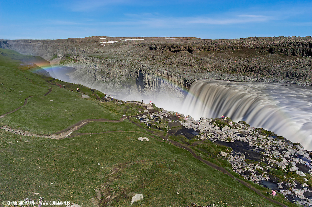 Dettifoss is one of Europes largest waterfalls, located in the North-East-Iceland.