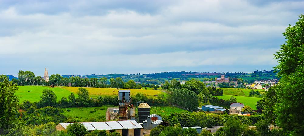 View looking East from Navan Fort overlooking Armagh