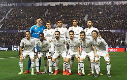February 24, 2019 - Valencia, Valencia, Spain - Real Madrid line up during the La Liga match between Levante and Real Madrid at Estadio Ciutat de Valencia on February 24, 2019 in Valencia, Spain. (Credit Image: © Maria Jose Segovia/NurPhoto via ZUMA Press)