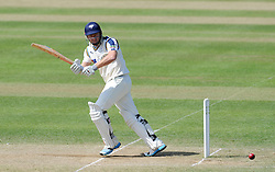 Yorkshire's Jonny Bairstow the ball. Photo mandatory by-line: Harry Trump/JMP - Mobile: 07966 386802 - 27/05/15 - SPORT - CRICKET - LVCC County Championship - Division 1 - Day 4 - Somerset v Yorkshire - The County Ground, Taunton, England.