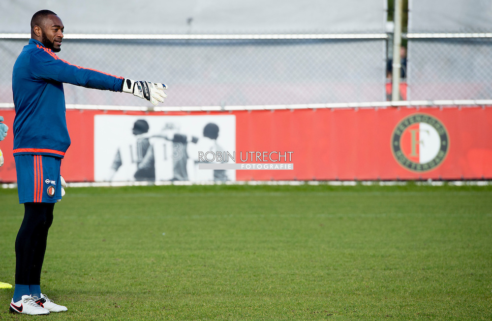 ROTTERDAM - Kenneth Vermeer Feyenoord  tijdens de training van woensdag 24 februari , copyright robin utrecht