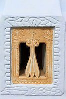 Grece, Cyclades, ile de Tinos, fenetre en marbre  // Greece, Cyclades islands, Tinos, marble window