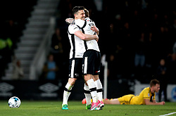David Nugent of Derby County celebrates with Johnny Russell of Derby County after scoring a goal - Mandatory by-line: Robbie Stephenson/JMP - 04/04/2017 - FOOTBALL - Pride Park Stadium - Derby, England - Derby County v Fulham - Sky Bet Championship