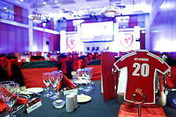 NEWPORT, WALES - Friday, May 29, 2015: The conference room ready for the evening dinner during the Football Association of Wales' National Coaches Conference 2015 at the Celtic Manor Resort. (Pic by David Rawcliffe/Propaganda)