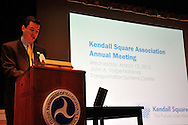 Kendall Square Association's annual meeting at the Volpe National Transportation Center in Cambridge MA.