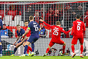 Goal Bayern Munich forward Thomas Müller (25) scores a goal 2-1 during the Champions League match between Bayern Munich and Tottenham Hotspur at Allianz Arena, Munich, Germany on 11 December 2019.
