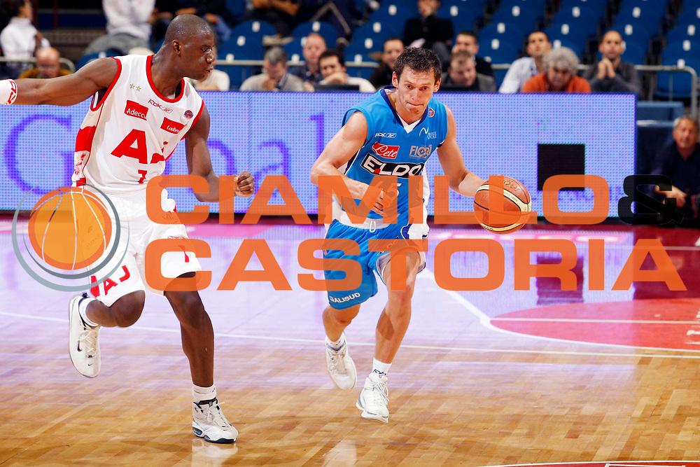 DESCRIZIONE : Milano Lega A1 2007-08 Armani Jeans Milano Eldo Napoli<br /> GIOCATORE : Janis Blums<br /> SQUADRA : Eldo Napoli<br /> EVENTO : Campionato Lega A1 2007-2008<br /> GARA : Armani Jeans Milano Eldo Napoli<br /> DATA : 30/09/2007<br /> CATEGORIA : Palleggio<br /> SPORT : Pallacanestro<br /> AUTORE : Agenzia Ciamillo-Castoria/G.Cottini