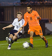 Scotland's David Wotherspoon and Holland's Adam Maher - Scotland v Holland - UEFA U21 European Championship qualifier at St Mirren Park..© David Young - .5 Foundry Place - .Monifieth - .Angus - .DD5 4BB - .Tel: 07765 252616 - .email: davidyoungphoto@gmail.com.web: www.davidyoungphoto.co.uk