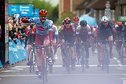 Rick Zabel of Team Katusha–Alpecin wins stage 2 of the 2019 Tour de Yorkshire from Barnsley to Bedale, Barnsley, United Kingdom on 3 May 2019.