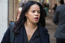 London, UK. 30th April 2019. Claudia Webbe, London Borough of Islington Councillor, arrives for a Labour Party NEC meeting to confirm plans for Labour's EU election manifesto, including its stance with regard to a second referendum.