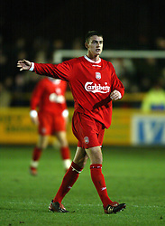 SOUTHPORT, ENGLAND - Tuesday, January 13, 2004: Liverpool's Darren Potter in action against Everton during the 'mini-Derby' Premier League reserve match at Haige Avenue. (Pic by David Rawcliffe/Propaganda)