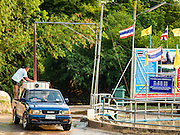 10 MAY 2016 - TA TUM, SURIN, THAILAND:    A man fills a water tank on his truck from the artesian well in Ta Tum, Surin, Thailand. The well is the most important source of drinking water for thousands of people in the communities surrounding it.  In the past many of the people had domestic water piped to their homes or from wells in their villages but those water sources have dried up because of the drought in Thailand. Thailand is in the midst of its worst drought in more than 50 years. The government has asked farmers to delay planting their rice until the rains start, which is expected to be in June. The drought is expected to cut Thai rice production and limit exports of Thai rice. The drought, caused by a very strong El Nino weather pattern is cutting production in the world's top three rice exporting countries:  India, Thailand and Vietnam. Rice prices in markets in Thailand and neighboring Cambodia are starting to creep up.   PHOTO BY JACK KURTZ