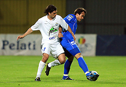 Lisandro Sacripanti and Diego Coronel at 30th Round of Slovenian First League football match between NK Domzale and NK MIK CM Celje in Sports park Domzale, on April 25, 2009, in Domzale, Slovenia. Celje won 3:0. (Photo by Vid Ponikvar / Sportida)