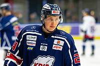 2020-01-22 | Kallinge, Sweden: Krif hockey (24) André Nordstrand during the game between Krif hockey and Halmstad Hammers at Soft Center Arena (Photo by: Jonathan Persson | Swe Press Photo)<br /> <br /> Keywords: kallinge, Ishockey, Icehockey, hockeyettan, allettan södra, soft center arena, krif hockey, halmstad hammers (Match code: krhh200122)