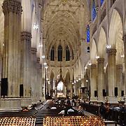 Interno della cattedrale di San Patrizio sulla 5° strada, è il principale luogo di culto cattolico di New York.