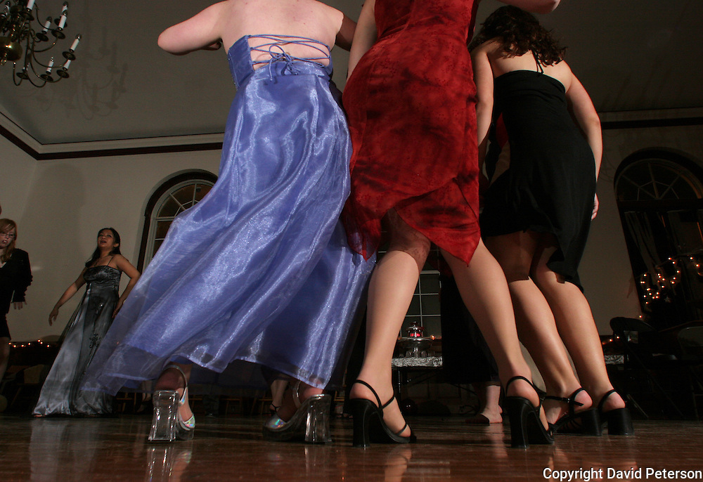Students at Drake University in Des Moines, Iowa, dance at a dormitory party on the school's campus.