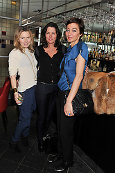 Left to right, SAMANTHA HEYWORTH, SAMANTHA KESWICK and MIA FREDRICSSON at a ladies lunch in support of Maggie's Barts hosted by Judy Naake, Clara Weatherall and Caroline Collins at Le Cafe Anglais, 8 Porchester Gardens, London W2 on 19th March 2013.