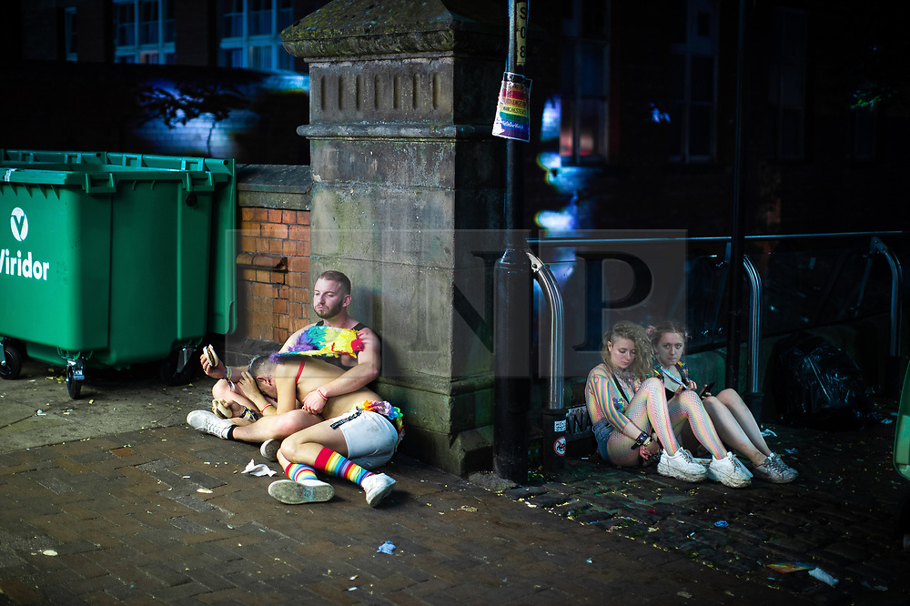 © Licensed to London News Pictures . 26/08/2019. Manchester, UK. Revellers at Manchester's annual Pride celebration on a night out around Manchester's Gay Village . Photo credit: Joel Goodman/LNP