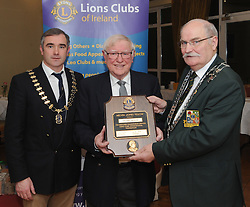Michael Moran from Westport Lions Club was honoured last week with the Melvin Jones Fellowship award in recognition of his years of service and dedication to Westport Lions Club.<br />