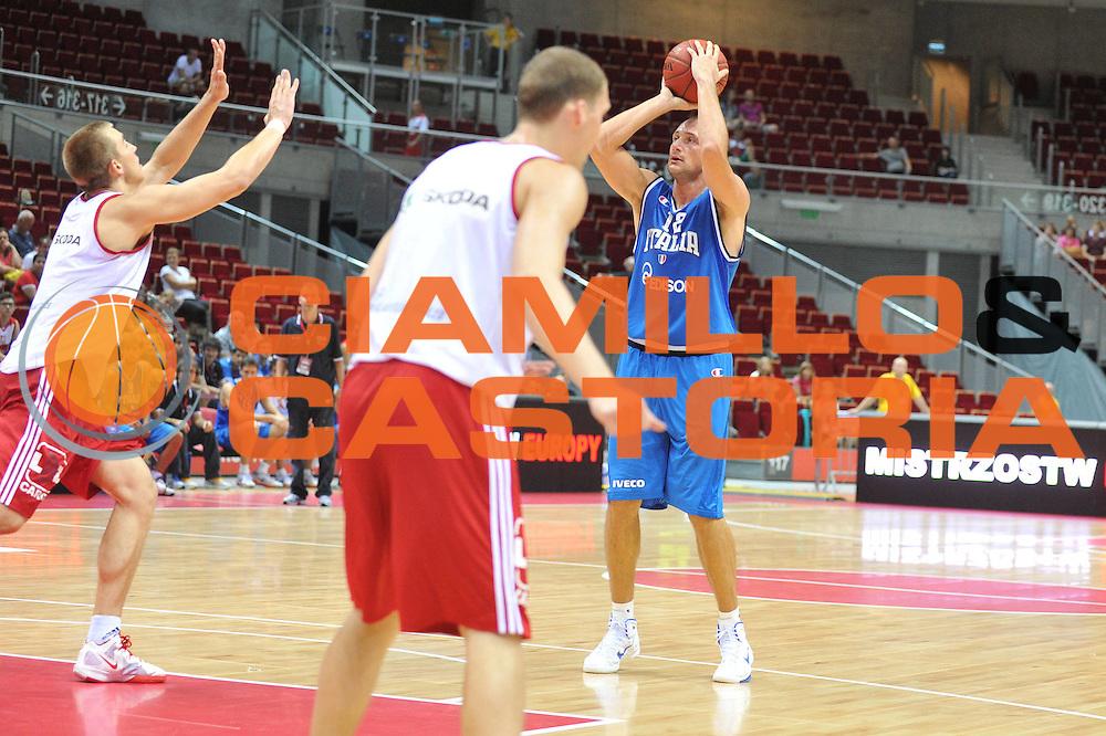 DESCRIZIONE : DANZICA POLONIA TORNEO INTERNAZIONALE SOPOT BASKET CUP Lettonia Italia<br /> GIOCATORE : marco cusin<br /> CATEGORIA : tiro<br /> SQUADRA : Nazionale Italia Maschile<br /> EVENTO : TORNEO INTERNAZIONALE SOPOT BASKET CUP<br /> GARA : Lettonia Italia<br /> DATA : 03/08/2012<br /> SPORT : Pallacanestro<br /> AUTORE : Agenzia Ciamillo-Castoria/M.Gregolin<br /> Galleria : FIP Nazionali 2012<br /> Fotonotizia :  DANZICA POLONIA TORNEO INTERNAZIONALE SOPOT BASKET CUP Lettonia Italia<br /> Predefinita :