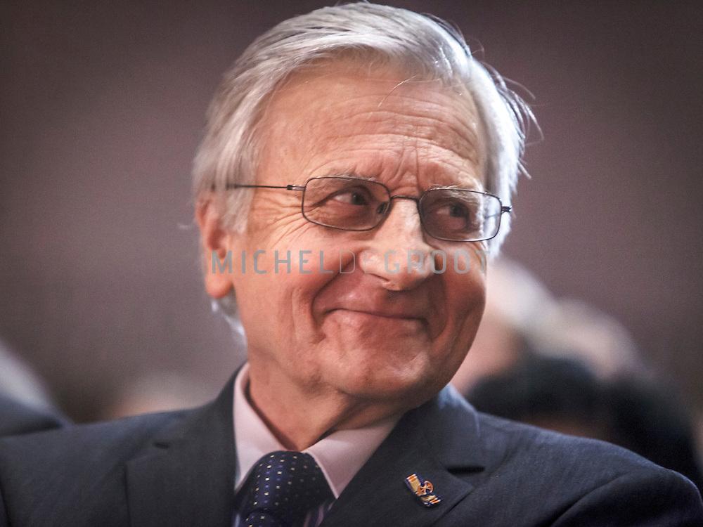 Jean-ClaudeTrichet, voormalig president van de Europese Centrale Bank (ECB), spreekt op woensdag 6 juni 2012 de achttiende Mandeville Lezing uit bij de Erasmus Universiteit in Rotterdam.