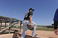 GLENDALE, AZ - FEBRUARY 28:  Carlos Quuentin #20 of the Chicago White Sox leaves the dugout prior to the game against the Los Angeles Dodgers on February 28, 2011 at The Ballpark at Camelback Ranch in Glendale, Arizona.  The Dodgers defeated the White Sox 6-5.  (Photo by Ron Vesely)