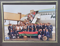 Down memory lane.  Tourmakeady GAA's team tour to the US in 1979, boaring the flight from Shannon airport.<br /> Pic Conor McKeown