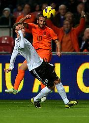 14-11-2012 VOETBAL: NEDERLAND - DUITSLAND: AMSTERDAM<br /> Friendly match Netherlands - Germany in Amsterdam Arena / Howedes in duel met Rafael van der Vaart<br /> ©2012-FotoHoogendoorn.nl