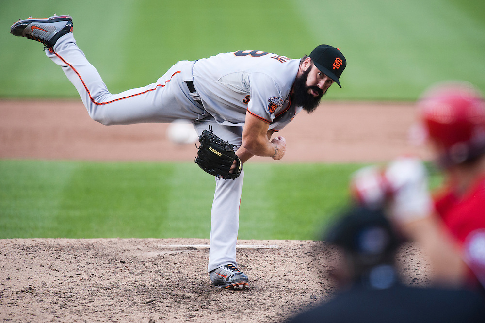 WASHINGTON, DC - APRIL 30: Brian Wilson #38 of the San Francisco Giants pitches against the Washington Nationals at Nationals Park on April 30, 2011 in Washington, DC. (Photo by Rob Tringali) *** Local Caption *** Brian Wilson