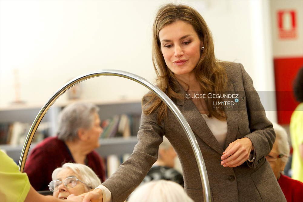 Princess Letizia of Spain attends the Opening of the Nursing Homes 'El Greco' at Azucaica, Toledo, on October 29, 2013 in Spain