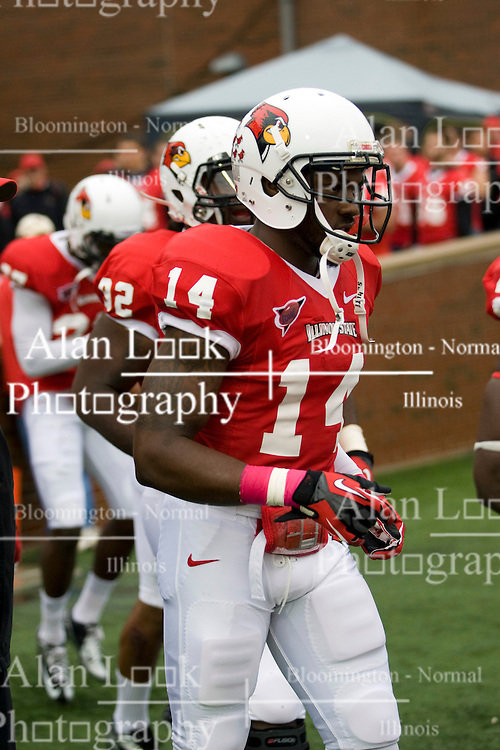 13 October 2012: Matt Goldsmith during an NCAA football game between the Youngstown State Penguins and the Illinois State Redbirds.  The Redbirds won the game by a score of 35-28 at Hancock Stadium in Normal Illinois