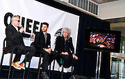 Roger Taylor, Adam Lambert and Brian May appear to announce summer North American tour dates at Madison Square Garden in New York City, New York on March 06, 2014.