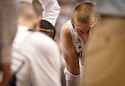 BYU forward Nate Austin looks on during the second half of the NCAA basketball game between BYU and Cal State Northridge, Saturday, Nov. 24, 2012.