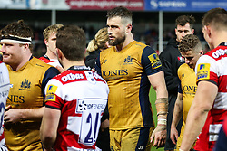 Jon Fisher of Bristol Rugby looks frustrated after Gloucester Rugby win 26-18 - Rogan Thomson/JMP - 03/12/2016 - RUGBY UNION - Kingsholm Stadium - Gloucester, England - Gloucester Rugby v Bristol Rugby - Aviva Premiership.