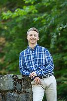 Zach Nelson senior portrait session.   ©2019 Karen Bobotas Photographer