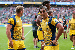 Jackson Willison of Worcester Warriors looks dejected after Saracens win the match - Rogan Thomson/JMP - 03/09/2016 - RUGBY UNION - Twickenham Stadium - London, England - Saracens v Worcester Warriors - Aviva Premiership London Double Header.
