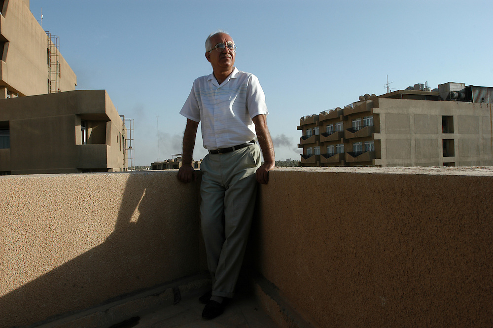 Dr. General Ala Saeed, the head of quality control for the Iraqi chemical weapons program under Saddam Hussein's regime..Baghdad, Iraq. 05 June 2003..Photo © J.B. Russell