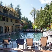 Belknap Hot Springs is a resort, campground, and hot springs located near McKenzie Bridge, Oregon.