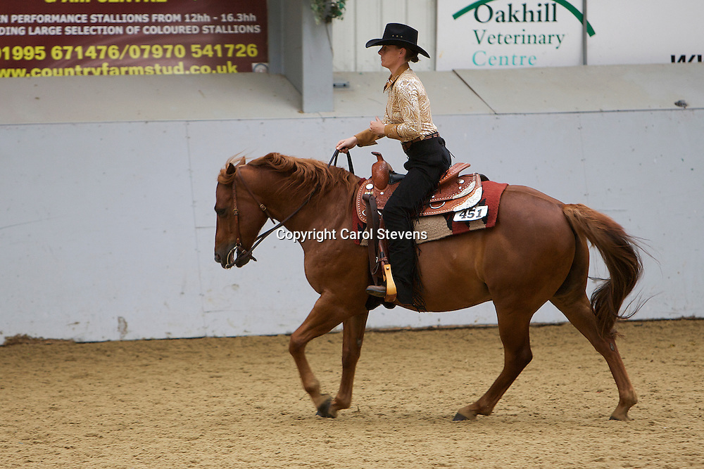WES Northern Show 2012<br /> Myerscough College, Preston, Lancashire<br /> Georgina O'Connor and Belstar Red Falcon