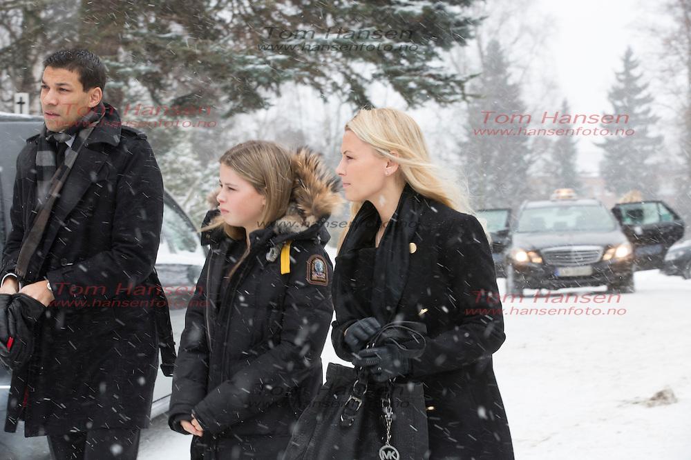 OSLO,  20140130:  Anbjørg Sætre Håtun begravet fra Vestre Aker Kirke i Oslo i dag. Vibeke Klemetsen.  FOTO: TOM HANSEN