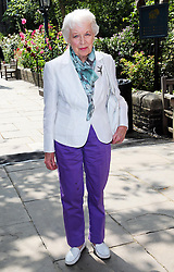 June Whitfield arriving at a memorial service for the actor Frank Thornton at St.Paul's Church, Covent Garden, London, Friday, 12th July 2013<br /> Picture by Stephen Lock / i-Images